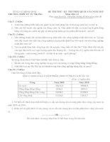 Đề thi thử THPT Quốc gia môn Địa lý lần 2 năm 2015 trường THPT Lý Tự Trọng, Bình Định