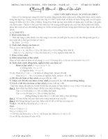 Tài liệu Bồi Dưỡng  HSG--HÀM  SỐ  BẬC  NHẤT