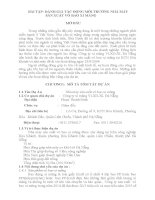 ĐÁNH GIÁ tác ĐỘNG môi TRƯỜNG NHÀ máy sản XUẤT vỏ BAO XI MĂNG