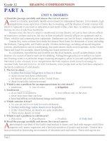 Reading & cloze test on thi TNTHPT