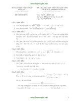 Tổng hợp đề thi học sinh giỏi toán 12 có đap án