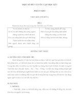 ĐỀ VÀ ĐÁP ÁN KIỂM TRA 1 TIÊT KHOI 12