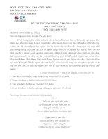 Đề thi thử THPT Quốc gia năm 2015 môn Ngữ Văn trường THPT Chuyên Nguyễn Bỉnh Khiêm, Vĩnh Long