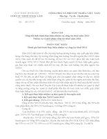 luận văn chuyên ngành thuế HVTC đề tài  Tổng kết tình hình thực hiện nhiệm vụ công tác thuế năm 2013 Nhiệm vụ và giải pháp công tác thuế năm 2014  huyện gia lâm