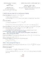 bộ đề thi thử toán 12 có đáp án hoc ki 1