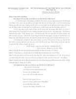 Đề thi minh họa và đáp án kỳ thi THPT Quốc gia môn Ngữ văn