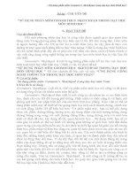 """""""SỬ DỤNG PHẦN MỀM GEOMETER''S  SKETCHPAD TRONG DẠY HỌC MÔN HÌNH HỌC """""""