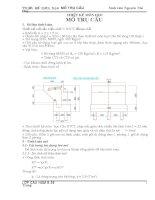 Thiết kế mố cầu kiểu chữ U BTCT đổ tại chỗ có chiều dài nhịp L=32m