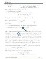 Đề thi thử số 7 môn toán kỳ thi Trung Học Phổ Thông quốc gia năm 2015
