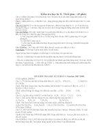 tuyển tập đề kiểm tra học kì II,-hóa 9