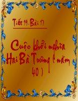 Bai 17 Cuoc khoi nghia Hai Ba Trung