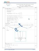 Đáp án đề thi thử số 3 môn toán kỳ thi Trung Học Phổ Thông quốc gia năm 2015