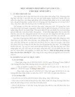 Sáng kiến kinh nghiệm: MỘT SỐ BIỆN PHÁP RÈN TẬP LÀM VĂN  CHO HỌC SINH LỚP 3.