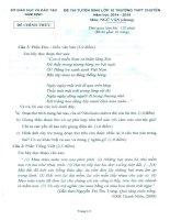 Đề thi thử vào lớp 10 năm 2014 trường THPT chuyên Lê Hồng Phong, Nam Định môn văn