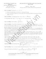Đề thi thử môn toán kỳ thi THPT quốc gia trường THPT Đặng Thúc Hứa tỉnh Nghệ An năm 2015