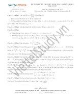 Đề thi thử môn toán kỳ thi THPT quốc gia lần 11 năm 2015