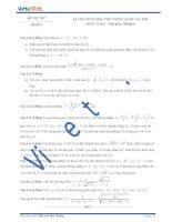 Đề thi thử số 1 môn toán kỳ thi Trung Học Phổ Thông quốc gia năm 2015