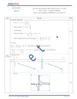 Đáp án đề thi thử số 2 môn toán kỳ thi Trung Học Phổ Thông quốc gia năm 2015