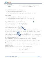 Đề thi thử số 10 môn toán kỳ thi Trung Học Phổ Thông quốc gia năm 2015