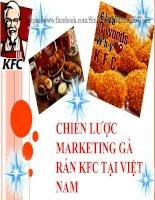 slide thuyết trình đề tài  chiến lược marketing gà rán KFC tại việt nam