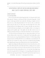Tiểu luận:       CƠ SỞ SINH LÝ ĐỂ XÂY DỰNG CHẾ ĐỘ SINH HOẠT                  HỌC TẬP CỦA HỌC SINH BẬC TIỂU HỌC