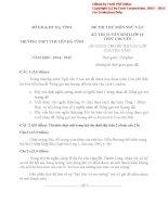 Đề thi thử vào lớp 10 môn Ngữ văn năm 2014 trường THPT chuyên Hà Tĩnh