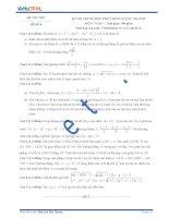 Đề thi thử số 6 môn toán kỳ thi Trung Học Phổ Thông quốc gia năm 2015