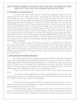 Sáng kiến kinh nghiệm:Một số kinh nghiệm  gây hứng thú cho học sinh khi dạy học môn ngữ văn 9 về cụm văn bản nhật dụng lớp 9