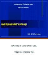 Thuyết trình môn quản trị ngân hàng thương mại QUẢN TRỊ RỦI RO TÁC NGHIỆP THEO BASEL TRONG HOẠT ĐỘNG NGÂN HÀNG