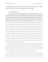 TÁC ĐỘNG CỦA TIÊU CHÍ MUA HÀNG ĐẾN QUYẾT ĐỊNH MUA LAPTOP CỦA NGƯỜI TIÊU DÙNG TẠI THÀNH PHỐ HỒ CHÍ MINH