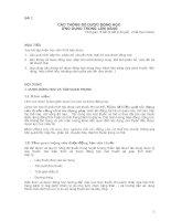 bài 2 CÁC THÔNG SỐ DƯỢC ĐỘNG HỌC ỨNG DỤNG TRONG LÂM SÀNG.DOC
