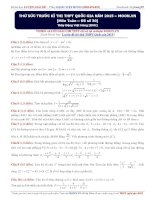 Thử sức trước kì thi THPT quốc gia năm 2015 môn toán (đề số 30)   thầy đặng việt hùng