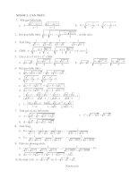 Chuyên đề biến đổi căn thức nâng cao tổng hợp đại số 9