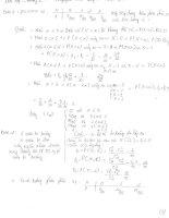 bài tập xác suất thống kê kèm lời giải