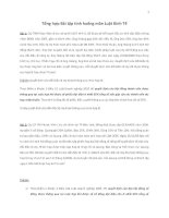 Tổng hợp Bài tập tình huống môn Luật Kinh Tế