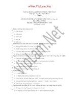 190 Câu hỏi trắc nghiệm Sinh Lý (có đáp án)