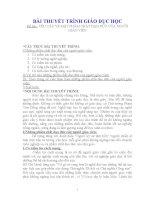 BÀI THUYẾT TRÌNH GIÁO DỤC HỌC Đề tài : YÊU CẦU VỀ MẶT PHẨM CHẤT ĐẠO ĐỨC CỦA NGƯỜI GIÁO VIÊN