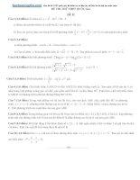 20 đề thi thử quốc gia THPT môn toán có đáp án