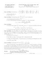 Đề thi học sinh giỏi tỉnh vĩnh phúc môn toán 9 năm học 2014 - 2015(có đáp án)