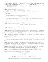 Đề thi thử THPT quốc gia năm 2015 môn toán trường THPT trần thị tâm, quảng trị