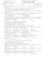 Đề kiểm tra 1 tiết chương 4 năm 2011