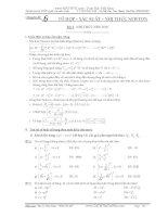 Chuyên đề tổ hợp xác suất luyện thi đại học hay