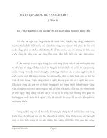 TUYỂN tập NHỮNG bài văn mẫu HAY lớp 7