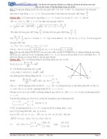 Tổng hợp các dạng toán về phương trình đường thẳng trong các đề thi thử có lời giải