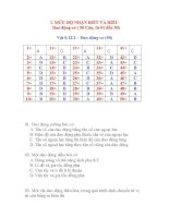 BỘ đề TRẮC NGHIỆM vật lý THPT có đáp án