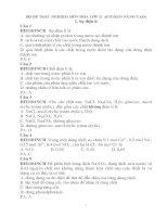 BỘ đề TRẮC NGHIỆM môn hóa lớp 11  (cơ BẢN+NÂNG CAO) có đáp án
