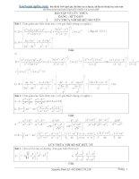 Bài tập hàm số mũ – lôgarit (nâng cao) có lời giải Nguyễn Đình Sỹ