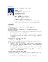 Mẫu đơn xin việc CV bằng tiếng anh (2)