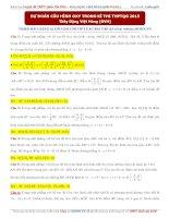 Dự đoán câu hình OXY trong kì thi THPTQG 2015   thầy đặng việt hùng