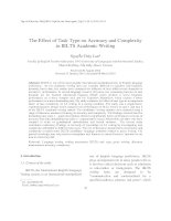 The Effect of Task Type on Accuracy and Complexity in IELTS Academic Writing